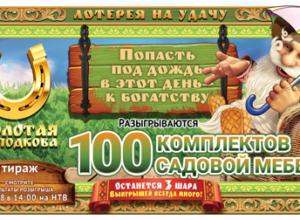 Золотая подкова 143 тираж проверить билет