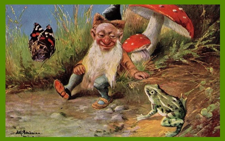 Амуром, открытка грибника